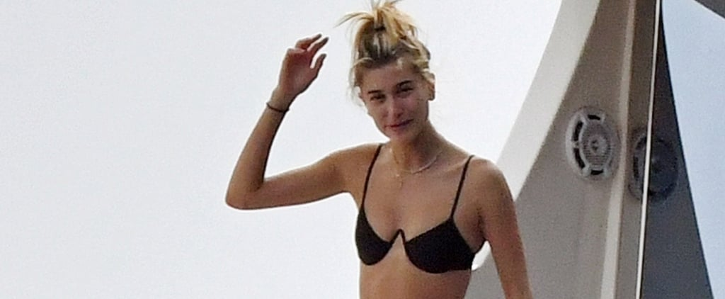 Hailey Baldwin Black Bikini With Justin Bieber in Italy 2018