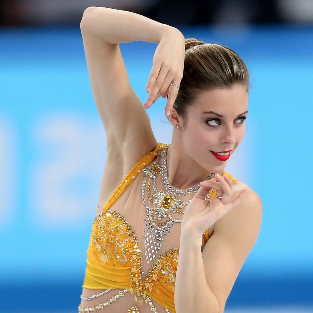 womens figure skating hair at sochi olympics 2014   popsugar beauty