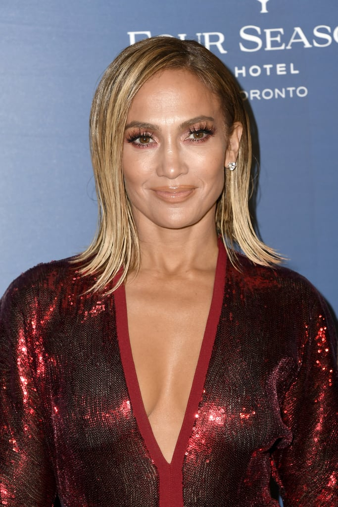 Jennifer Lopez's Blond Lob Haircut