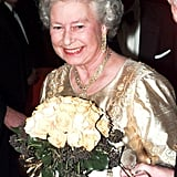 Queen Elizabeth II celebrates her golden wedding anniversary in 1997.