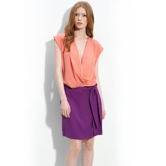 Diane von Furstenberg Reara Colorblock Dress, $365