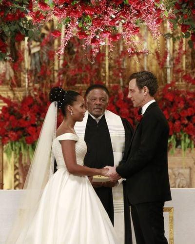 scandal olivia and fitzs wedding pictures popsugar