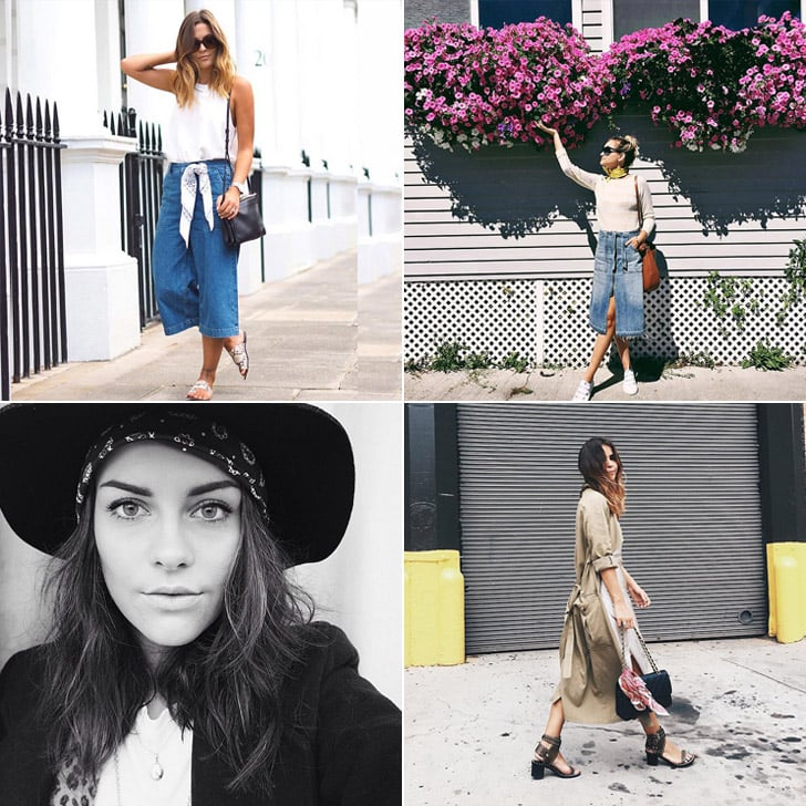 Bloggers Styling and Wearing Bandana Scarves