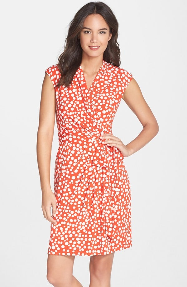 Eliza J Dot Print Jersey Wrap Dress ($118)