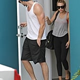 Miley Cyrus and Liam Hemsworth went to Pilates.