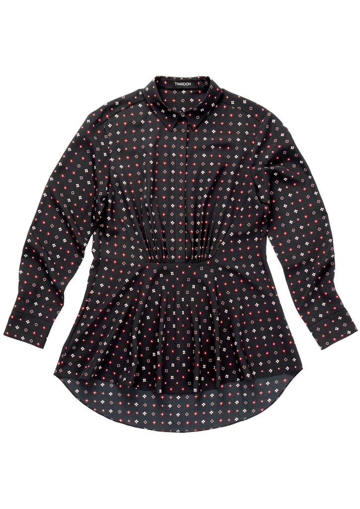 Dot Foulard Crepe de Chine Shirt ($450)