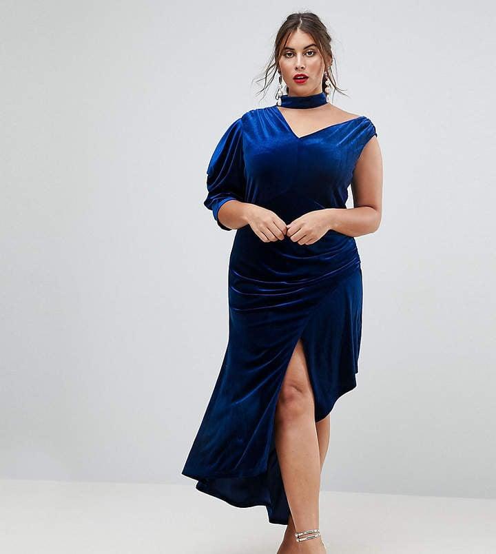 ASOS Deconstructed Velvet Midi Dress