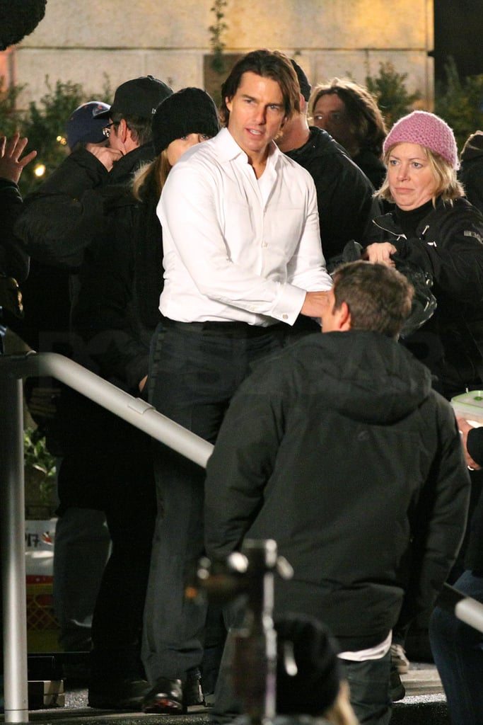 Pictures of Tom Cruise Filming Mission Impossible 4: Ghost