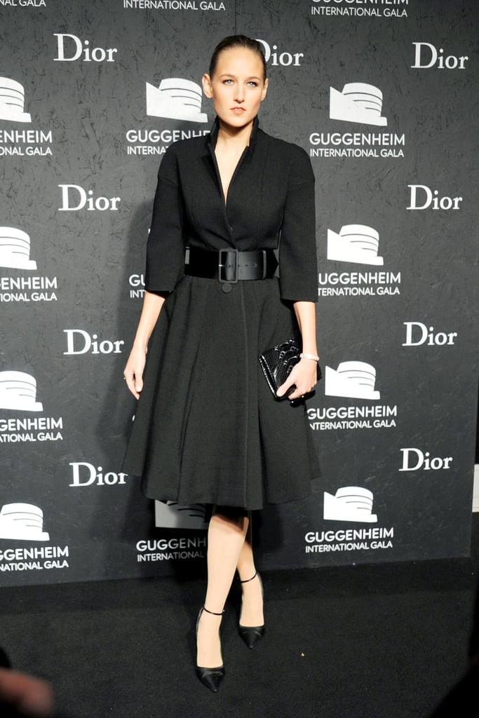 Leelee Sobieski in Dior Belted Coat