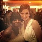 Octavia Spencer and Mary Elizabeth Winstead hung out together at the Oscars parties.  Source: Instagram user mewins