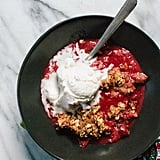 Plum Crisp With Pistachio, Almond, and Oat Topping