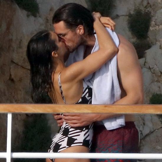 Nina Dobrev and Grant Mellon Kissing in France May 2019