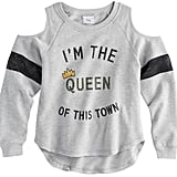 "Disney D-signed Descendants 2 Girls 7-16 ""I'm the Queen of this Town"" Embellished Pullover Top"
