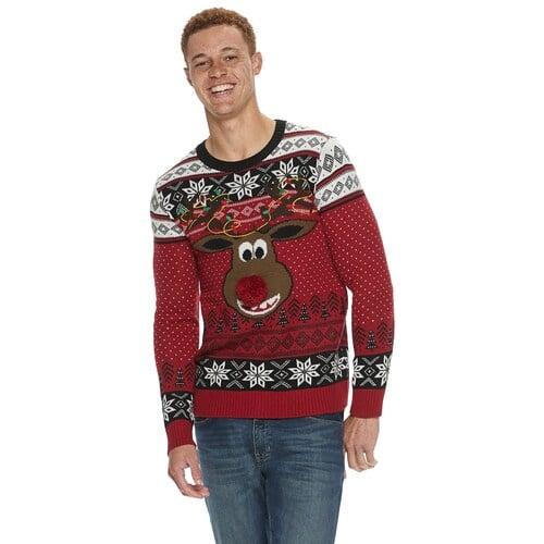 Men's Reindeer Poopermints Ugly Christmas Sweater