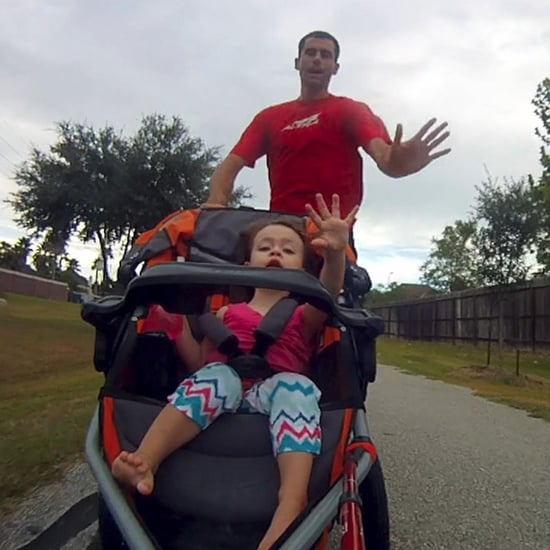 Dad Runs Fastest Marathon With Stroller | Video