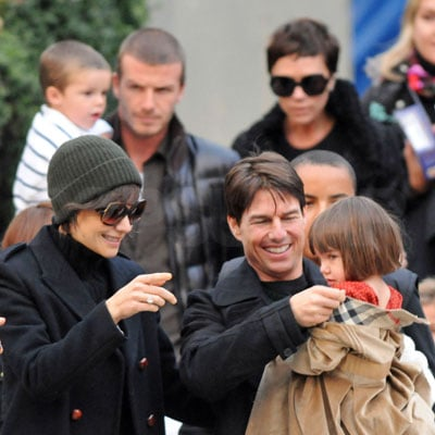 Tom Cruise, Katie Holmes, Victoria Beckham, David Beckham, Connor Cruise, Cruz Beckham, Suri Cruise Out in NYC Over Thanksgiving