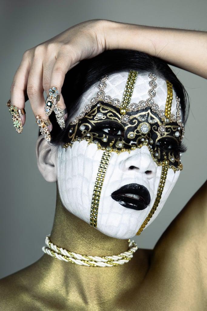 Cindy Chen Designs Fabergé Egg Makeup Look