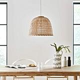 Stone & Beam Modern Round Rattan Ceiling Pendant Chandelier