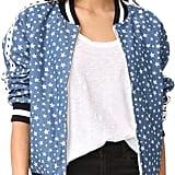 What's better than a bomber jacket? This Jocelyn Reversible Denim Bomber Jacket ($295).