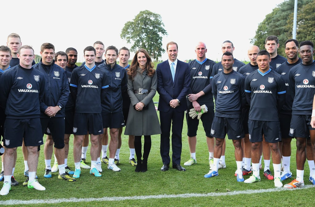 William and Kate With the England Men's Football Team ...