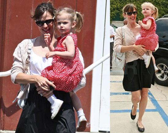 Jennifer Steps Out with Her Polka Dot Princess