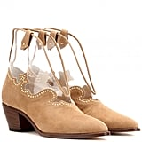 Charlotte Olympia Suede Ankle Boots ($1,215)