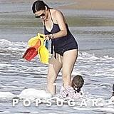 Jennifer Garner showed off her postbaby beach body.