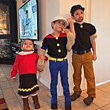 Popeye, Olive Oyl, and Bluto