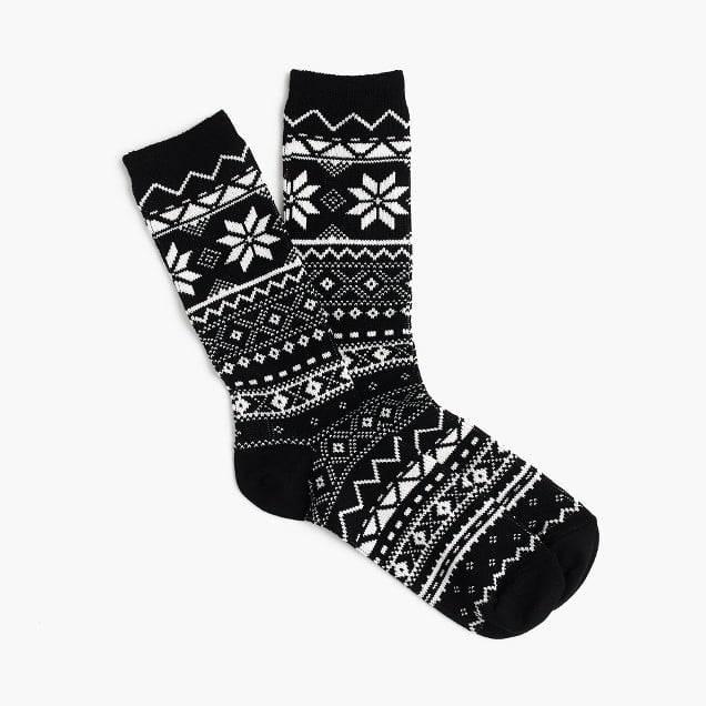 J.Crew Fair Isle Trouser Socks | J.Crew Gifts | POPSUGAR Fashion ...