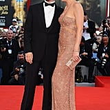 Kate Hudson in Atelier Versace Pictures With Matthew Bellamy at 2012 Venice Film Festival