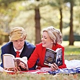 Donald Trump and Hillary Clinton Engagement Shoot