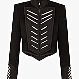 Sass & Bide Stripped Beat Cropped Military Jacket
