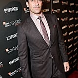 Jon Hamm wore a suit and tie at the Hamilton Behind the Camera Awards.