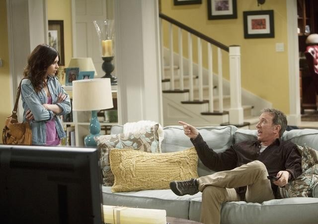 Alexandra Krosney and Tim Allen in ABC's Last Man Standing.