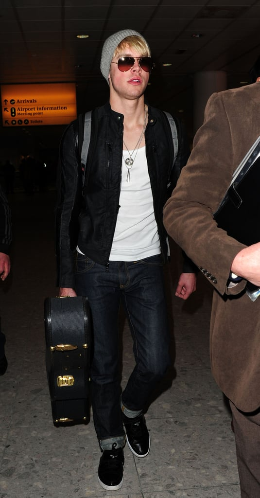Pictures of the Glee Cast Arriving in London