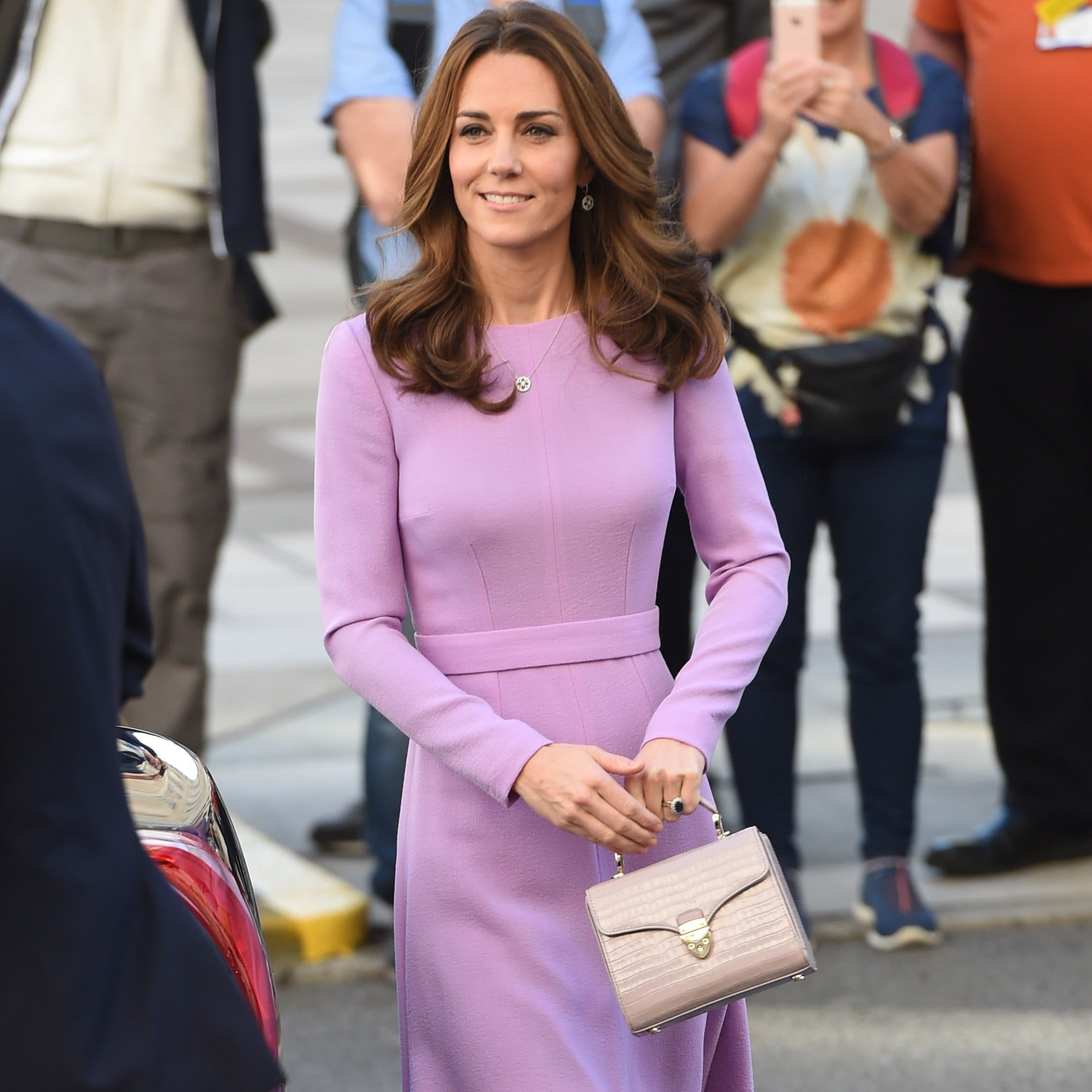 Kate Middleton Purple Bag From Aspinal Of London 2018 Popsugar Fashion