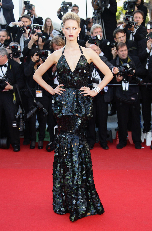 Karolina Kurkova wore a Roberto Cavalli gown to the 2012 Cannes premiere of Killing Them Softly.