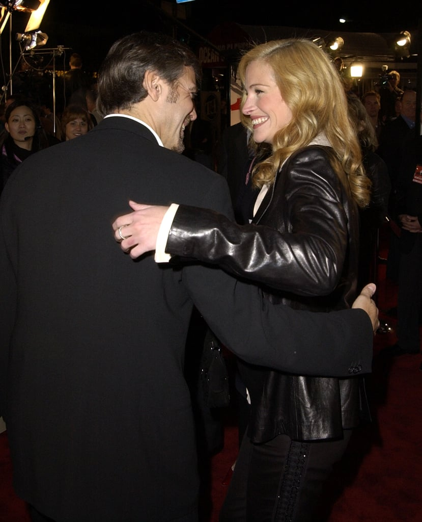 She shared a laugh with George Clooney at the 2001 premiere of Ocean's Eleven.