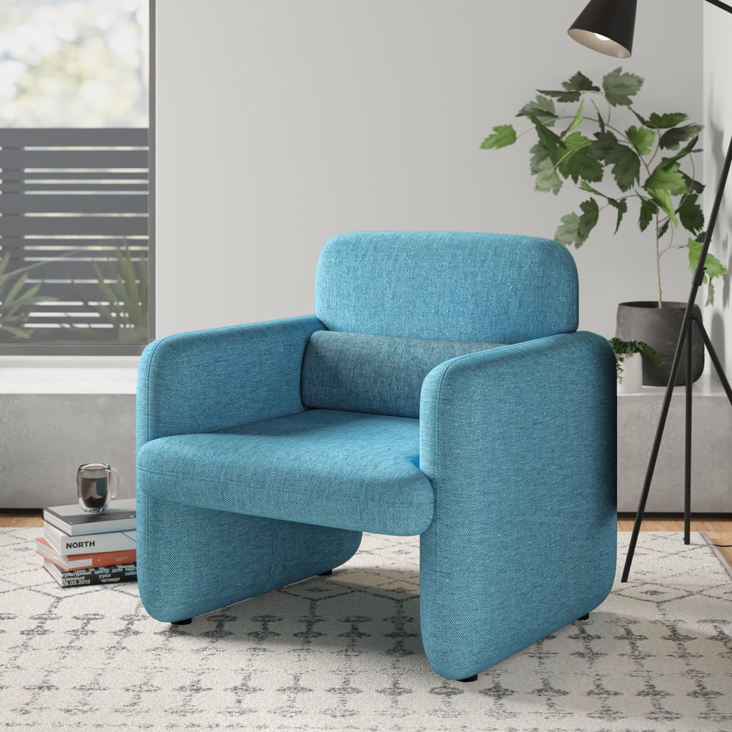 Cartagena Woven Fabric Upholstered Armchair