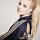 Britney Spears shared a glamorous look with a high ponytail.  Source: Twitter user BritneySpears