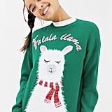 New Look Llama Holidays Sweater