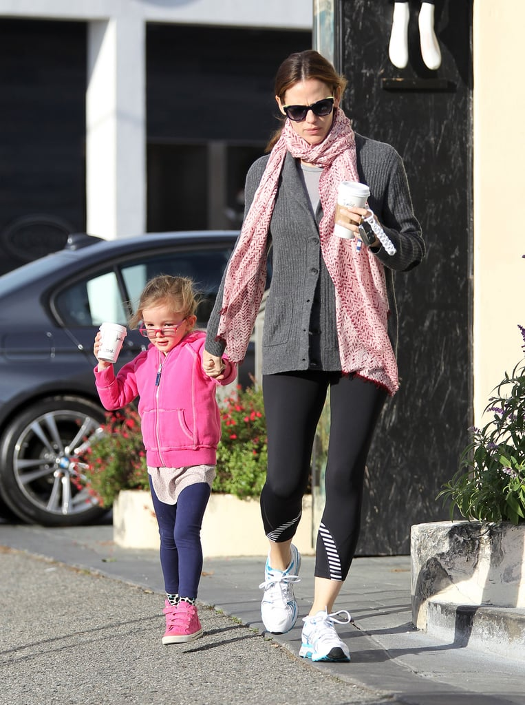 Jennifer Garner held Seraphina by the hand as they left a Starbucks with matching cups in Brentwood this morning. The duo got back to their weekday routine after an exciting weekend for Jennifer and her husband, Ben Affleck. Jennifer and Ben attended multiple award-season events, including the Producers Guild Awards and the SAGs. Ben picked up honors from both shows and the couple celebrated his successes with a stop by the Chateau Marmont on Sunday night. It was just the latest dressed-up fun for Ben and Jen, who have shared many sweet award-season moments already this year. They've been juggling family time in between red carpet appearances, though, and Ben recently broke from his producing duties to take Seraphina and Violet to the farmers market.