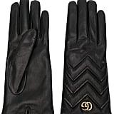 Gucci GG Marmont Chevron Gloves ($645)