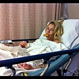 Chelsea Handler didn't let a little trip to the hospital slow down her Instagramming. Source: Instagram user chelseahandler