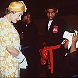 When This Boy Proudly Showed the Queen His Boxing Helmet