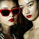 Candy-Coated Red Lips at Calvin Luo Spring 2020