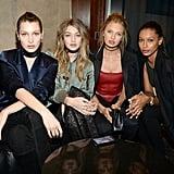 Bella Hadid, Gigi Hadid, Romee Strijd, and Jasmine Tookes.