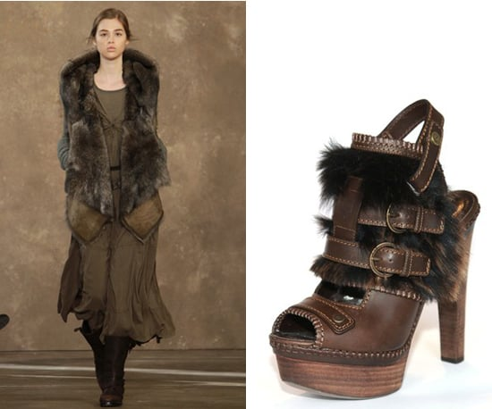 Two furry ideas from Donna Karan.