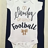 On Sunday We Watch Football Onesie