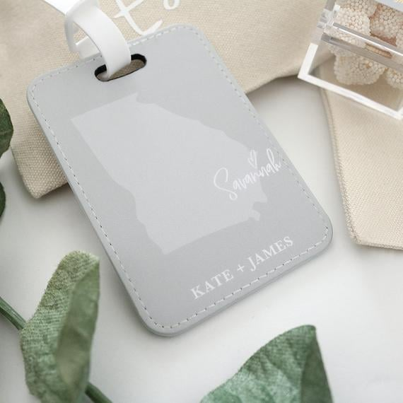 State Love Luggage Tag Wedding Favor